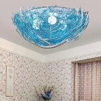 Creative LED Bird Nest Light Ceiling Lights Children 's Room Lamps Simple Bedroom Light Project Lamps Round LU810207
