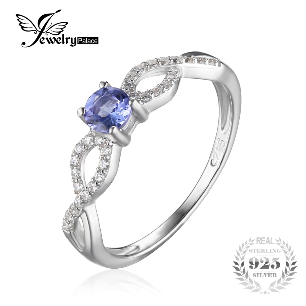 Jewelrypalace Infinity 04ct Natural Tanzanite Ring Genuine 925 Sterling  Silver Engagement Rings For Women Gemstone