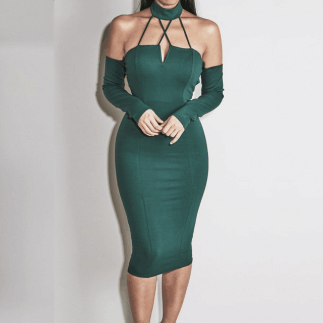 Halter Neck Backless Bandage Dresses