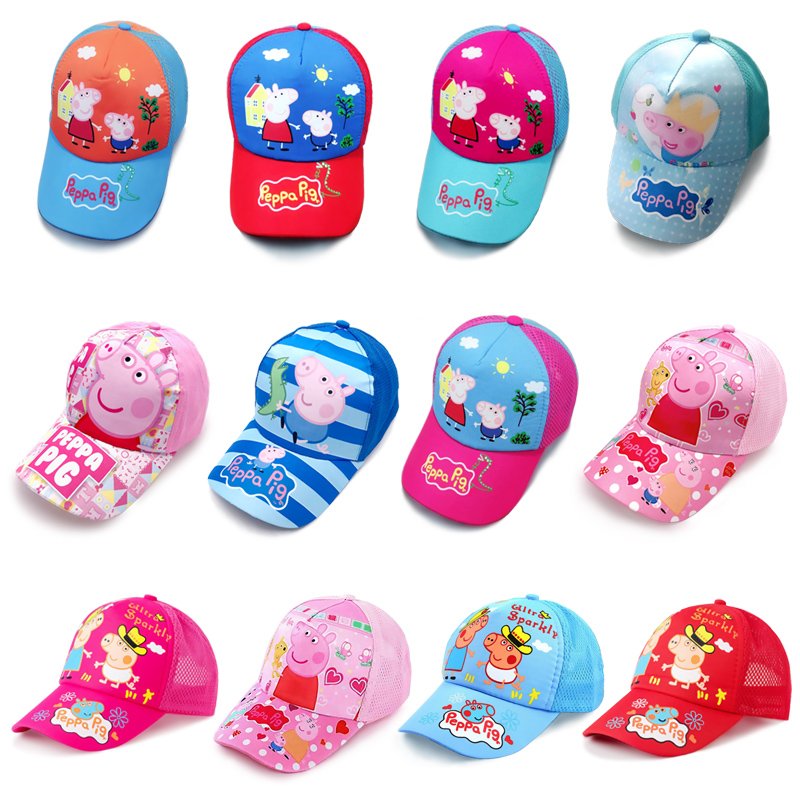 Peppa Pig Hat Headdress Breathable Block The Sun Cool Summer Baseball Cap Cotton Year Old Anime Figures Action Figures Gift Toys