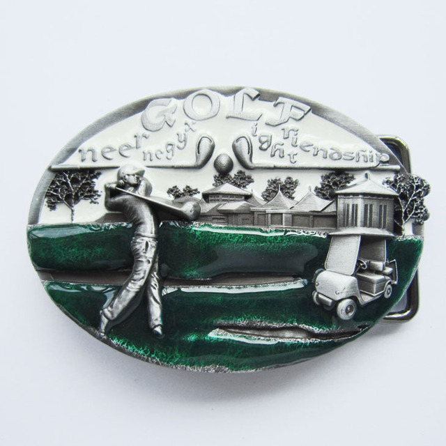 Retail Distribute GOLF GOLF BALL GOLF CLUB  Belt Buckle BUCKLE-T093WH Free Shipping