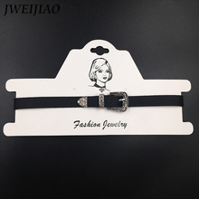 JWEIJIAO Harajuku Vintage American Punk Belt Buckle Charm Chokers Necklace Leather Collar Women Creative Punk Jewelry L0035