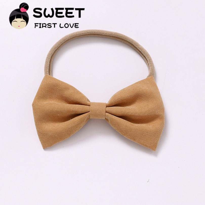 27pcs/lot New Bow Nylon Headbands Party Hair Bands Newborn Girls Headwear Cute Soft Cotton Bow Hair Accessories Wholesales