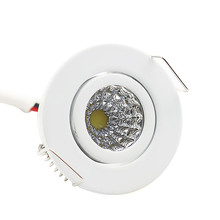 ZMISHIBO 3W 90V-260V Round LED Downlights Recessed Ceiling Spot Lamp 35mm Cut Hole Size For Indoor No Flicker Lighting Fixtures