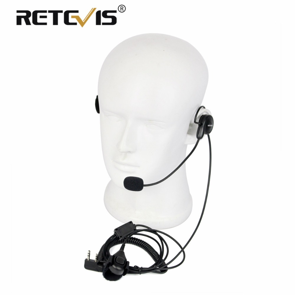 Universal 2Pin Finger PTT Earpiece Soft Microphone Headset For Kenwood For BAOFENG UV-5R Bf-888s Retevis H777 RT5 Walkie Talkie