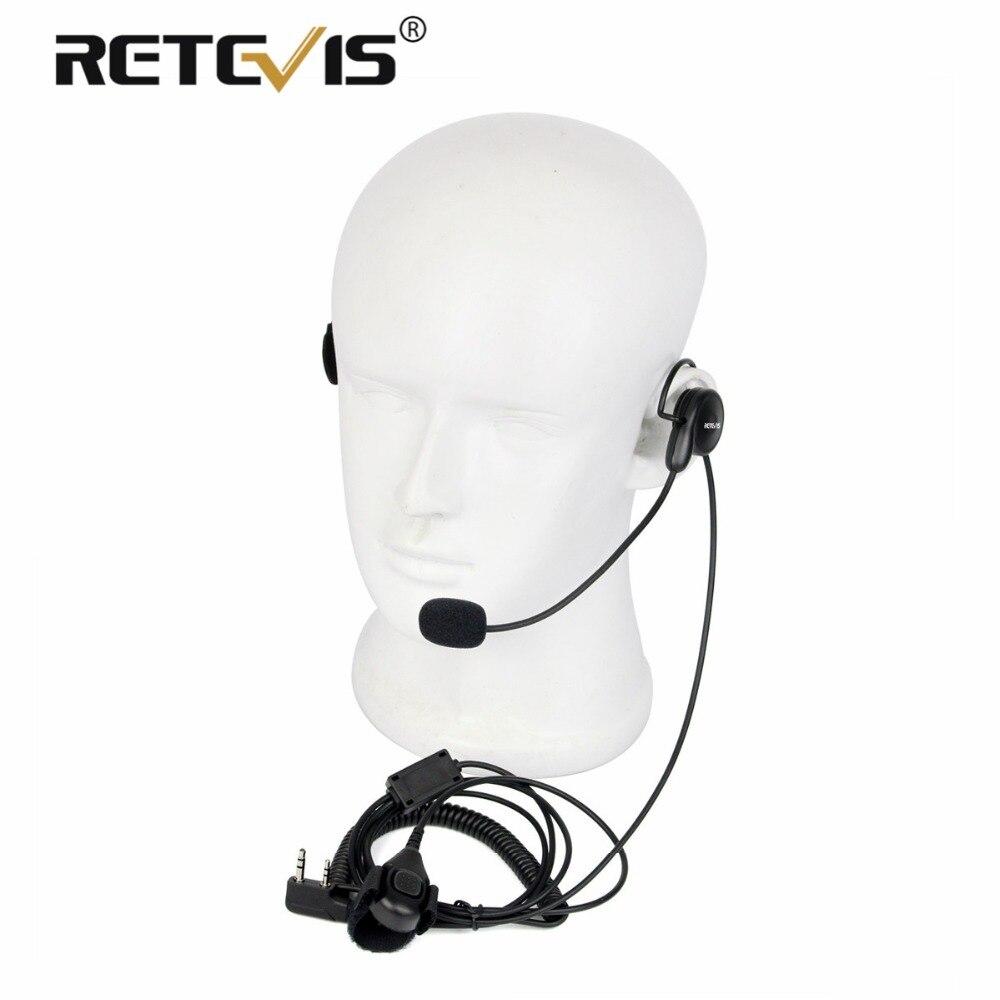 Universal 2Pin Finger PTT Hörer Weiche Mikrofon Headset Für Kenwood Für BAOFENG UV-5R Bf-888s Retevis H777 RT5 Walkie Talkie