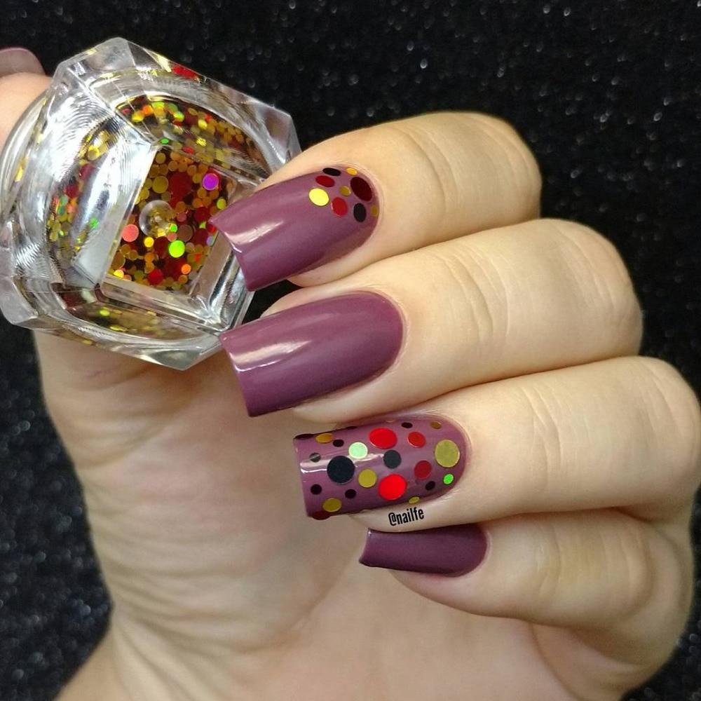 1 Box Glänzende Runde Ultradünne Pailletten Bunte Nail art Glitter - Nagel Kunst - Foto 3