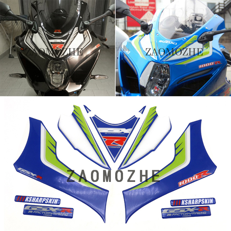 For Suzuki GSXR1000 GSX R 1000 2017 Motorcycle Front Fairing Motor Number Board 3D Gel Protector