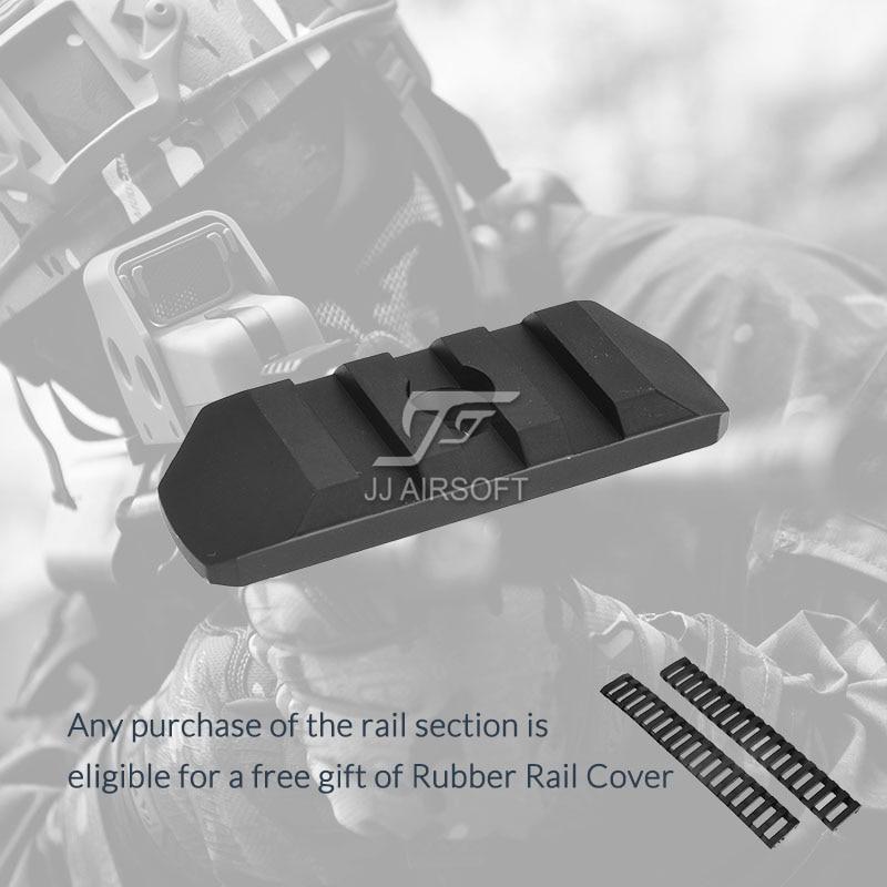 ACI 3-Slot 3 Slot M-LOK / MLOK Rail CNC Lightweight (Black/Red/Tan/Silver) Buy One Get 2pcs FREE Rail Cover