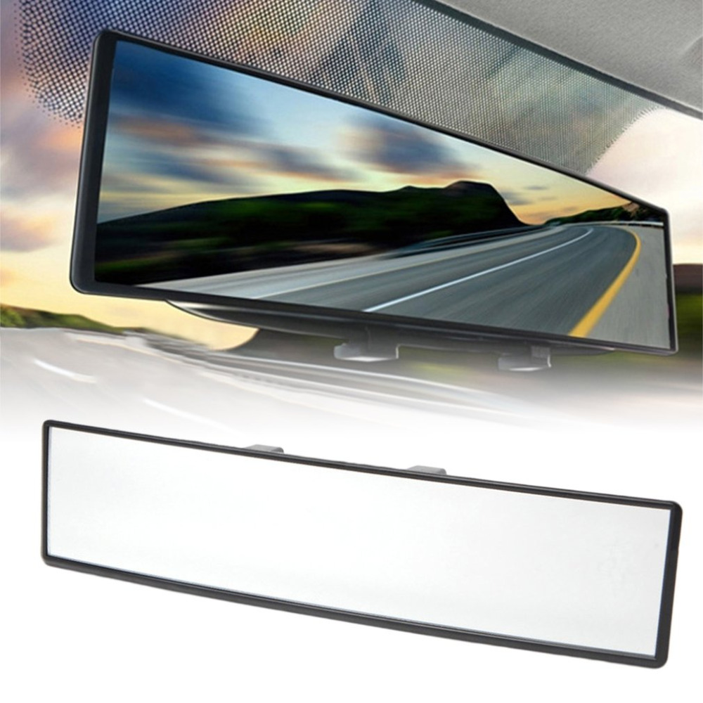 New Universal 300mm Car Rear Mirror Wide-angle Rearview Mirror Auto Wide Convex Curve Interior Clip On Rear View Mirror