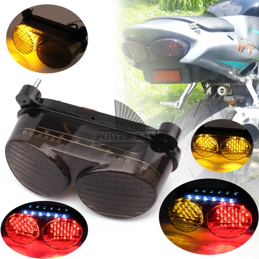 Motorcycle Led Smoke Lens Stop Light Integrated Led Rear