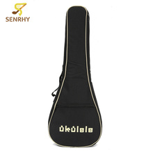 Senrhy 21″23″26″ Inches Padded Ukulele Bag Nylon Portable Guitar Bag Case Box Electric Bass Guitar Cover Backpack Musical Parts