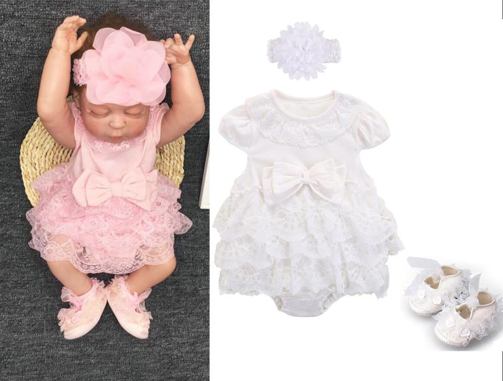 New  Baby Girls Summer Clothing Cotton Bodysuit Princess Dress 0-3 3-6 6-9 Months Party Birthday Baptism Dress Twins Baby Dress