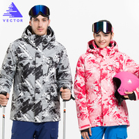 VECTOR Professional Skiing Jackets Waterproof Warm Winter Outdoor Snow Sportwear Women Men Snowboarding Ski Jacket Brand