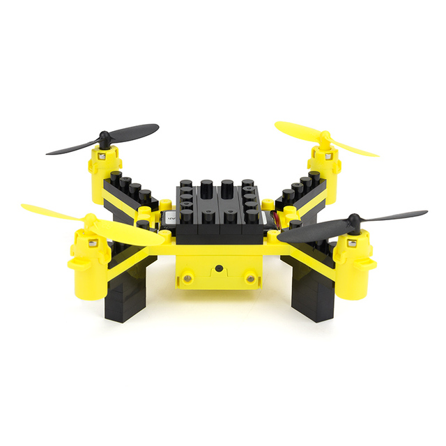 HELIWAY Building Blocks RC Drone with Camera 6 Channel RC Assembling DIY Blocks Quadcopter Building Brick Helicopter Toy for Kid