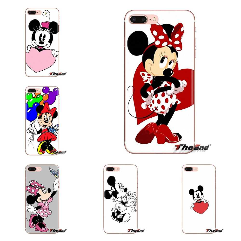Lucu Mickey Minnie Pink Transparan TPU Shell Case untuk LG G3 G4 Mini G5 G6 G7 Q6 Q7 Q8 Q9 v10 V20 V30 X Power 2 3 K10 K4 K8 2017