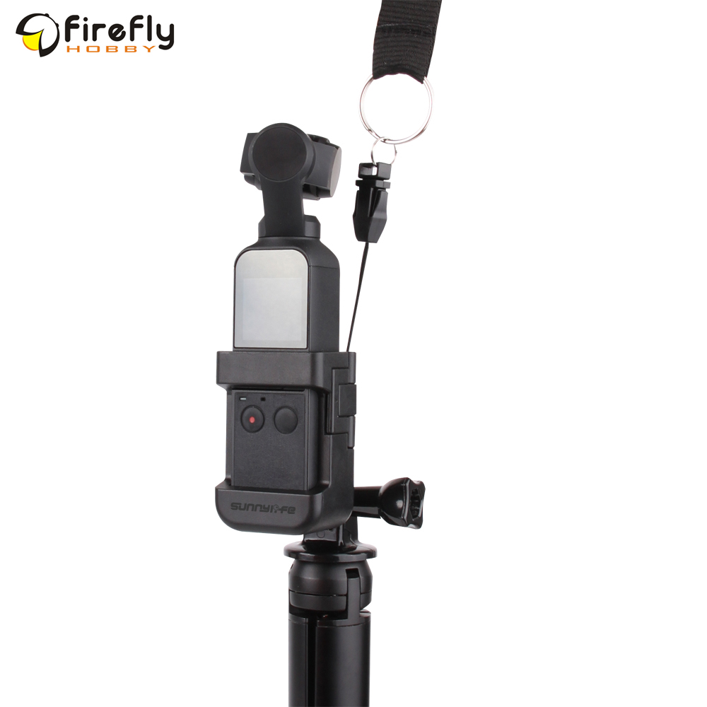 Black 1 set Adapetr for Osmo Pocket Ugood Sunnylife Updated Adapter Mount Selfie Stick Tripod Connecting Accessories For DJI OSMO POCKET Gimbal Camera