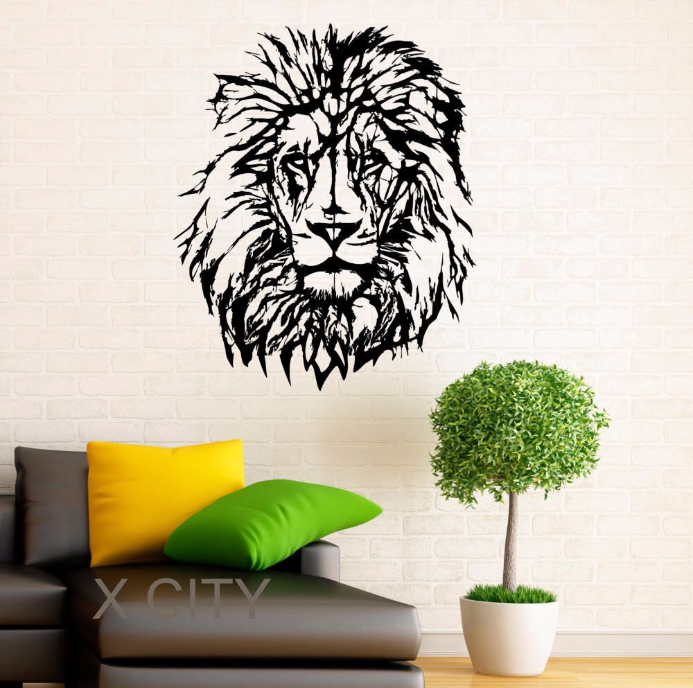 Lion Wall Decal Vinyl Stickers African Wild Cat Pride Animals Home Interior Design Art Murals Bedroom Decor