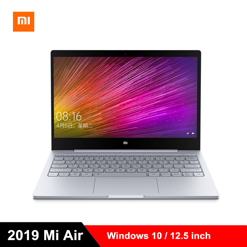 2019 Xiao mi mi Laptop Ar 12.5 polegada Windows 10 Notebook Intel Core m3-8100Y Dual Core 1.1 GHz 4 GB RAM 128 GB SSD HD mi Computador