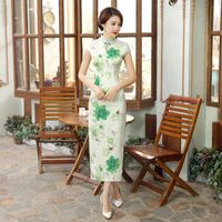 Classic Vintage Chinese Sexy Women Qipao Dress Mujer Vestido Size S M L XL XXL C0052
