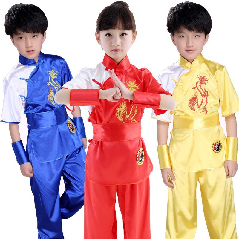 Bjj Kimono Jiu Jitsu Children Wushu Costume New Youth  Kids Taiji Uniform Kung Fu Performance Suit Material Arts Suit