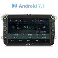 Тыква 2 Din 8 автомобиль радио 2 Гб оперативная память Android 7,1 gps навигации стерео аудио для VW/Skoda/сиденье/Гольф радио видео плеер без DVD