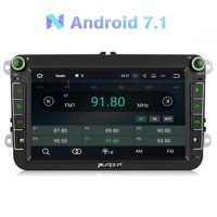Pumpkin 2 Din 8 Car Radio 2GB RAM Android 7.1 GPS Navigation Car Stereo Audio For VW/Skoda/Seat/Golf Radio Video Player NO DVD