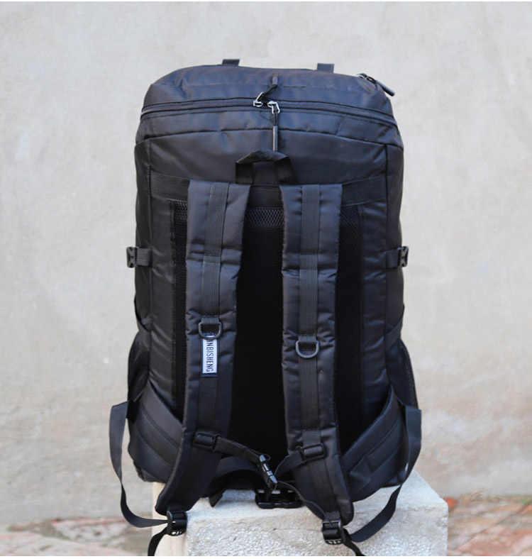 Bardzo duża pojemność pakiet 80L mężczyźni lub kobiety wysokiej jakości torby bagażowe dodanie powiększ poszerzyć pojemność rodzina duży plecak podróżny