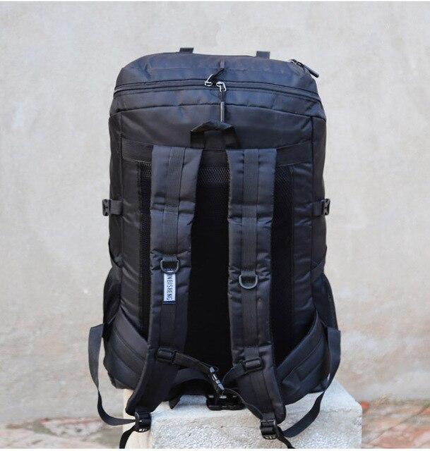 Super grande capacité paquet 80L hommes ou femmes sacs à bagages de haute qualité ajoutant agrandir élargir la capacité famille grand sac à dos de voyage