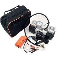 1 шт. 3008 низкий уровень шума двойной цилиндр автомобильный воздушный компрессор автомобильный шиномонтаж надувной насос для автомобиля Ава