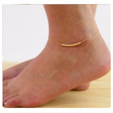 Bijoux New 2017 Fashion Love Arc Metal Empty U Tube Smile Anklets For Women Charm Foot Jewelry Girl Gift Baby Barefoot Sandals