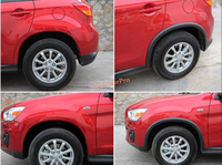 BLack Tire Wheel Arch Fender Flares Kits for Mitsubishi ASX Outlander Sport 2013 2015