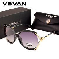 VEVAN 2019 High Quality Oversized Polarized Sunglasses Women Brand Designer UV400 Sun Glasses For Women Luxury oculos With Box