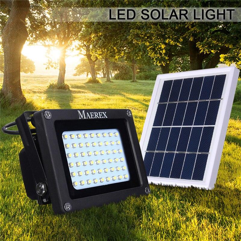 Smuxi Solaire Lumière 54 Led Foncé Capteur Solaire Lampe Lumière Spotlight Mur Lampes Projecteur Extérieur Lumière Crue D'urgence