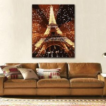 DIY colorings pictures by numbers with colors Paris famous tower scenery picture drawing painting framed Home