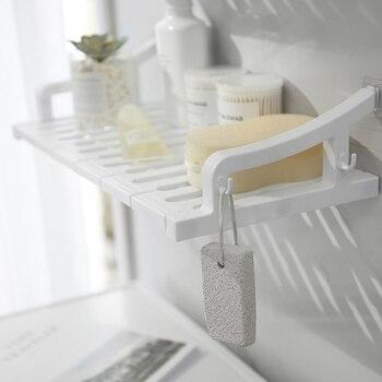 Punch-free Bathroom Shelf Kitchen Spice Rack Sucker Seamless Wall-mounted Bathroom Toilet Storage Rack Bath Towel Placement Rack Полка