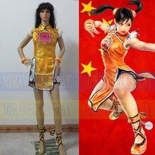 Tekken 6 Ling Xiaoyu Dress+Shorts+Legging Women Girls Halloween Cosplay Costume