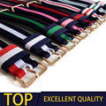 Top Quality luxury watchband 20mm colorful nylon leather strap for daniel wellington watch dw mujer watch