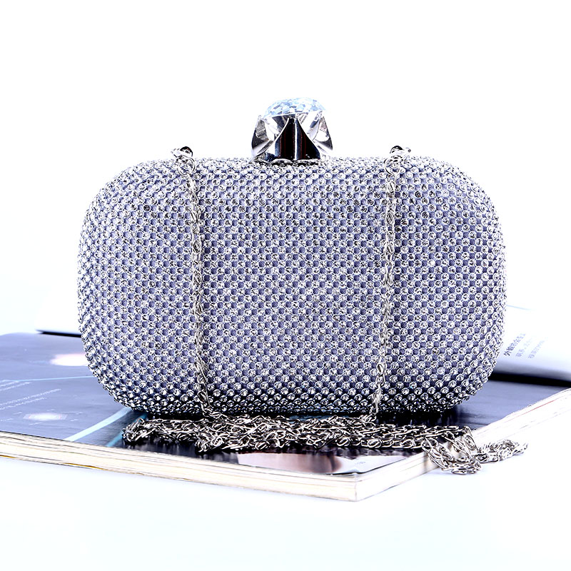 Luxury Diamond Evening Bags Classic Rhinestone Day Clutch For Lady Recommend for Everyone Gold/Silver/Black Crystal Bag карабин black diamond black diamond rocklock twistlock