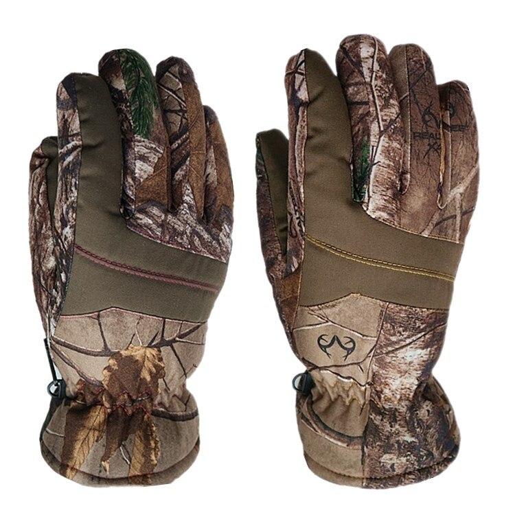 Уличные камуфляжные лыжные перчатки Bionic Leaf, водонепроницаемые термоперчатки с подогревом, камуфляжные перчатки для сноуборда