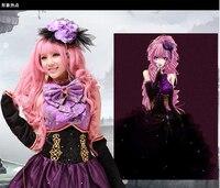 VOCALOID Megurine Лука дракона Необычные платья Vocaloid полный набор в Косплэй костюм