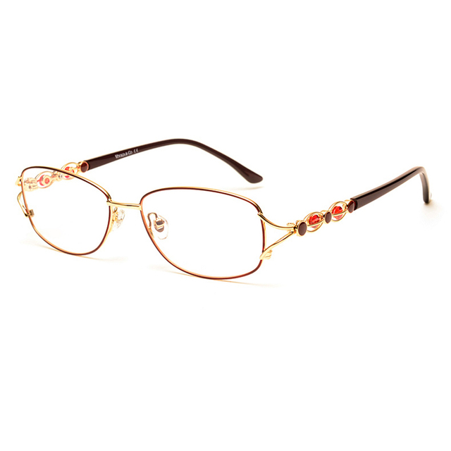 Toptical Óculos Quadro de Miopia Mulheres Quadro Completo Ultra-leve Ópticos Óculos de Liga Enquadrar Elegante Fêmea