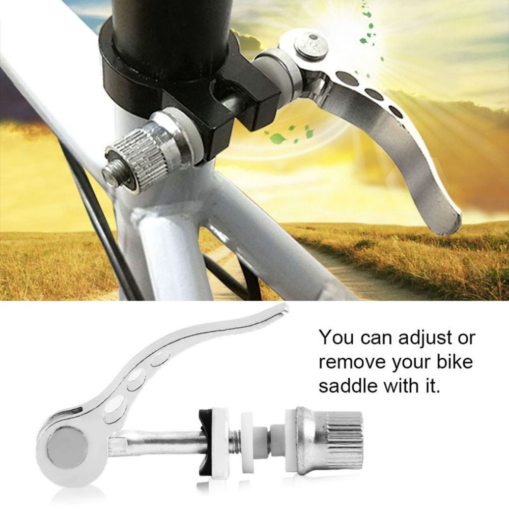 3 Holes Bike Bicycle Quick Release Seat Post Seatpost Seat Tube Clamp Skewer