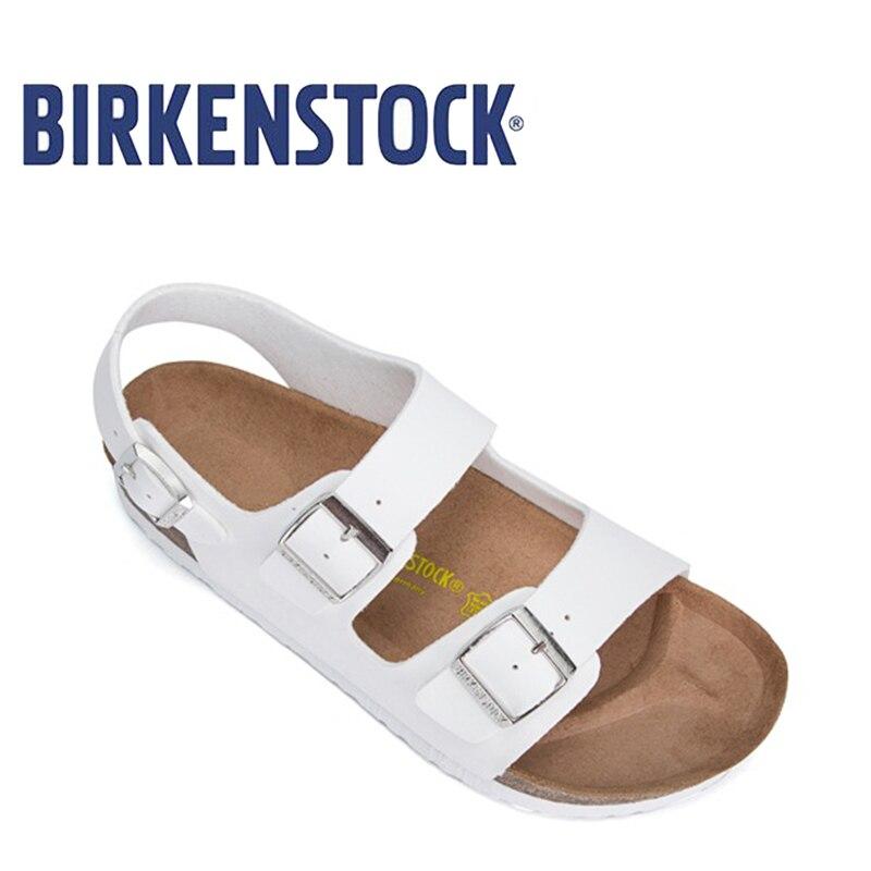 2018 Originale Birkenstock EVA Milano Basalto Sandalo Per Il Tempo Libero Delle Donne Unisex 803 Scarpe da Donna Sandali In Sughero Donne Pistoni Della Spiaggia