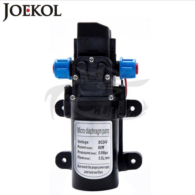 Bomba de agua de diafragma de alta presión DC 12 V/24 V 60 W/80 W, bomba de agua con interruptor de Presión Automático, flujo 5L/minm