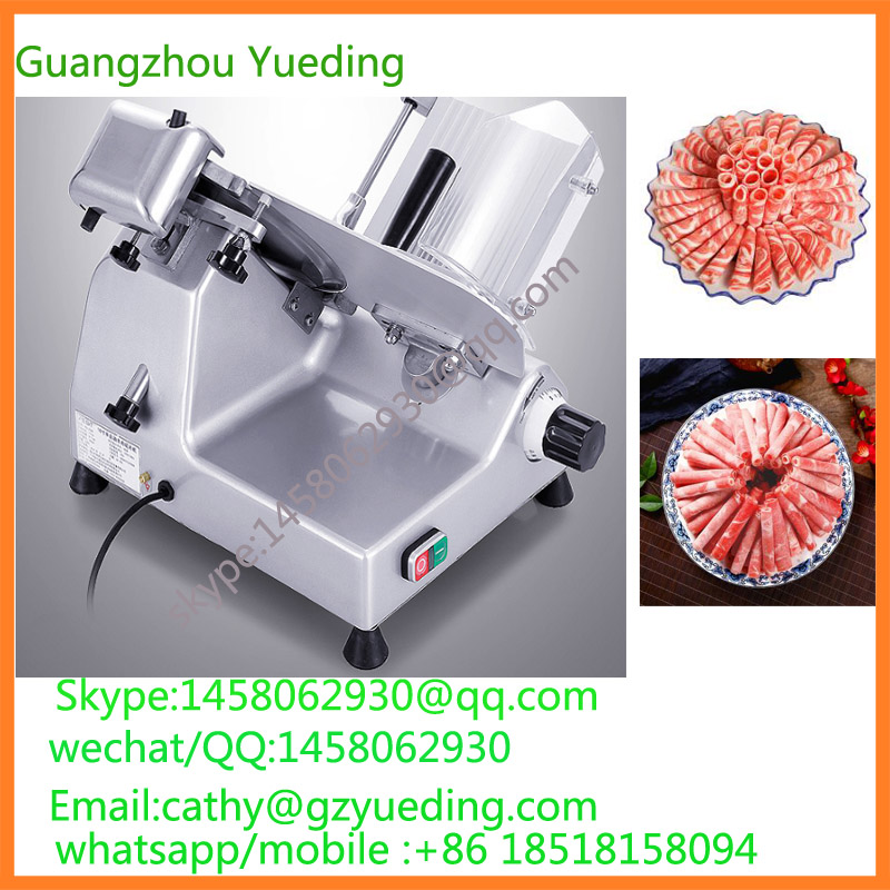 free shipping to amercian Semi-Automatic Electric Meat Cutter Machine, Commercial Frozen Meat Slicer