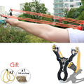 Hot Sale Portable Powerful Outdoor Self-defense Alloy Shot Ergonomic Grip Slingshot Catapult Powerful Hunting Camping