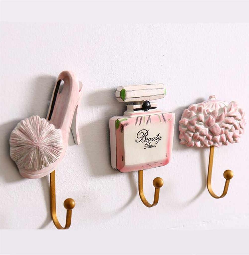 樹脂女性の靴香水ボトルバッグパターニング服帽子ハンガーウォールマウントサクションカップハンガーキッチン浴室粘着壁ハンガー