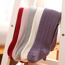 Autumn Winter Baby Tights Soft Cotton Baby Girl Tights Solid Knitted Newborn Infant Toddler Stockings Pantyhose Girls Clothes