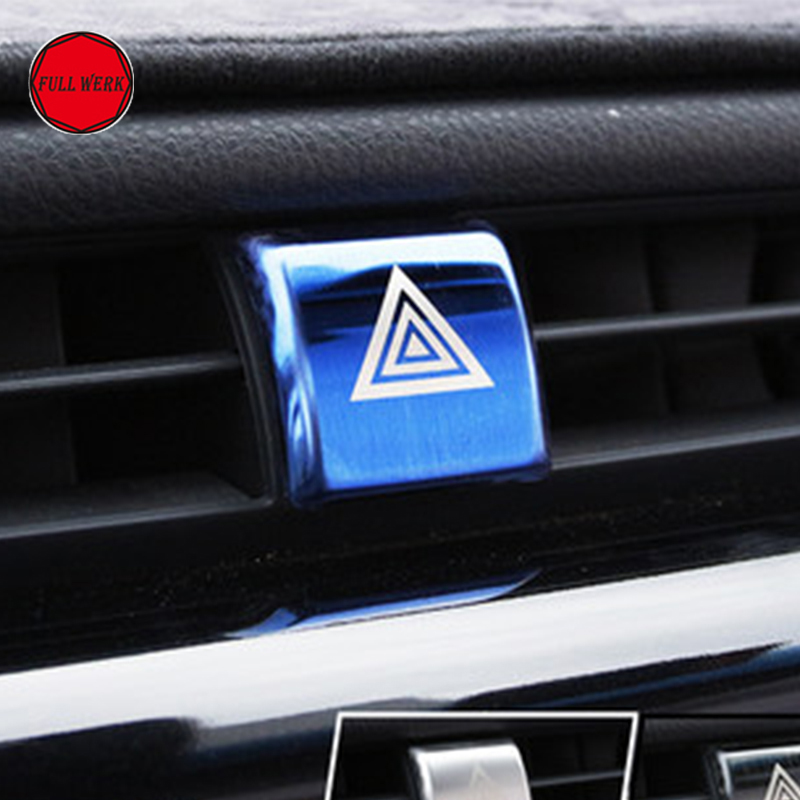 1 unid SS coche luz de emergencia interruptor botón Marco cubierta ...